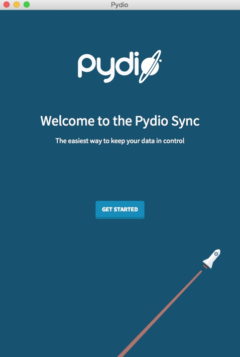 PydioSync Welcome Screen